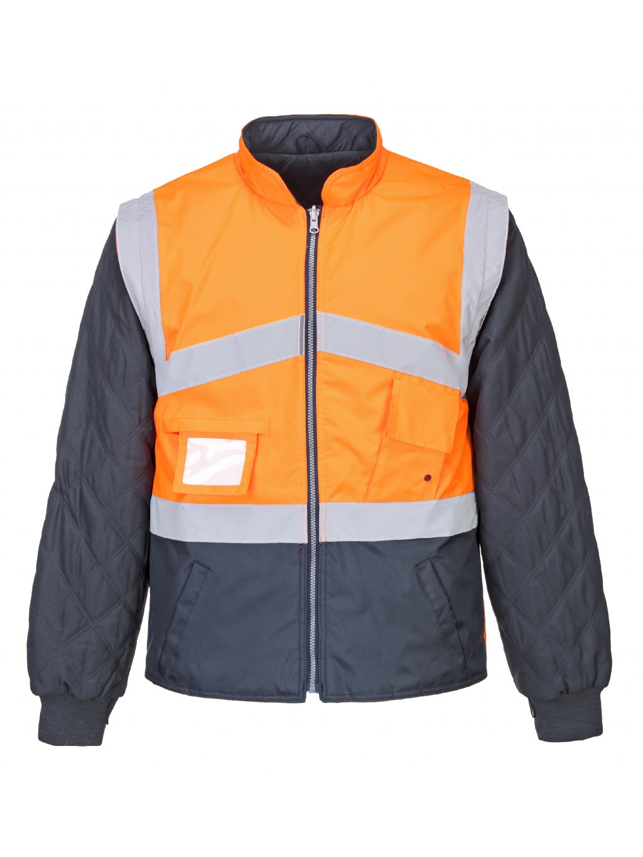 569174f14 Obojstranná bunda a vesta 4v1 oranžová | DUAL BP