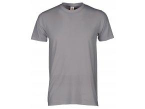print tričko pánske ocelova steel siva